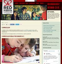 Red Ribbon Week website screenshot