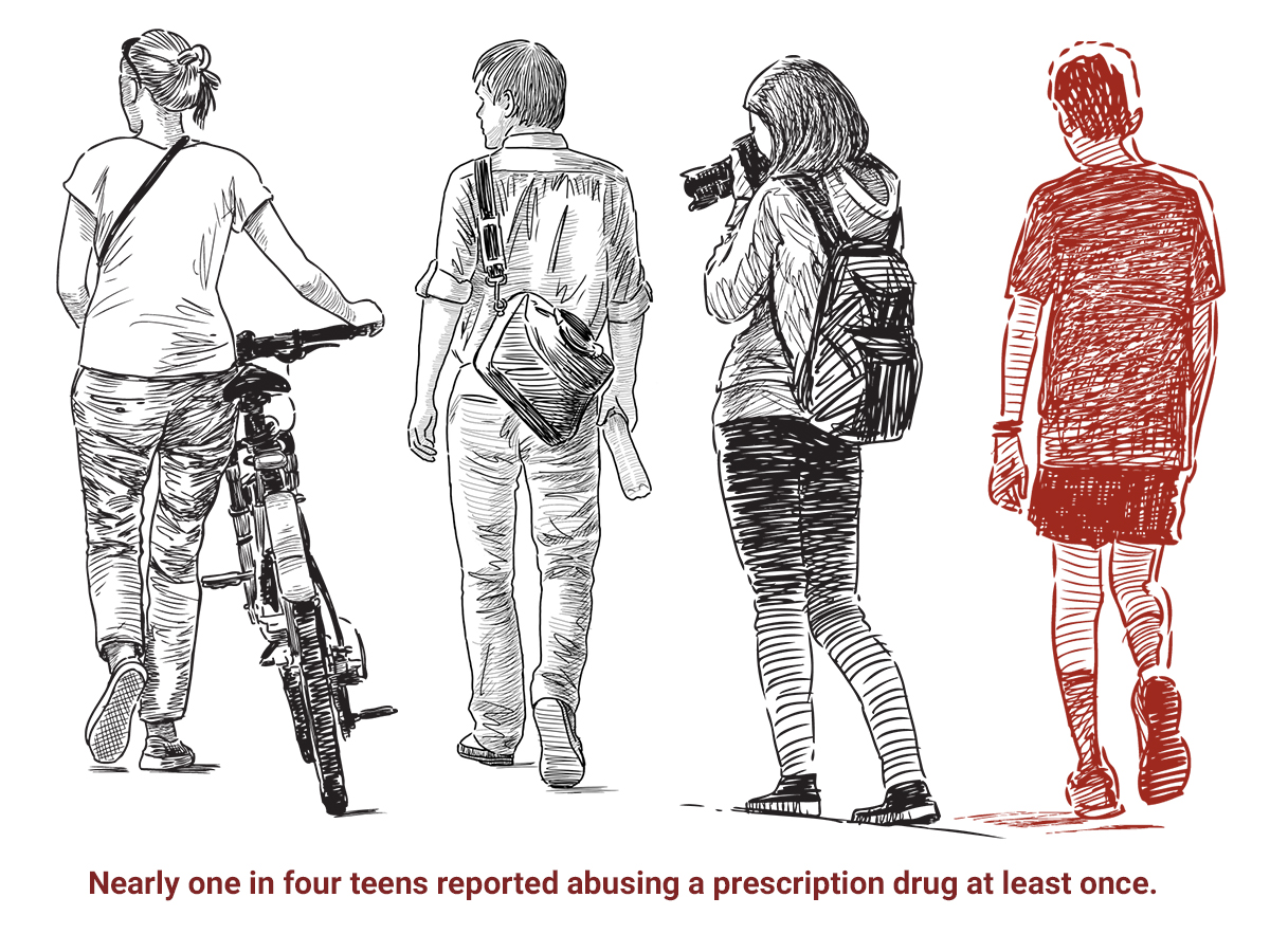 One in four teens abuse or misuse a prescription drug in their lifetime.