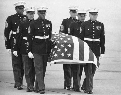 Camarena's casket draped with American flag