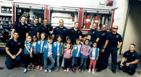 El Paso Texas girl scouts and fire fighters