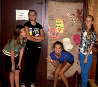 Florida girl scouts door decorating