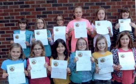 Pennsylvania girl scouts with drug free pledge