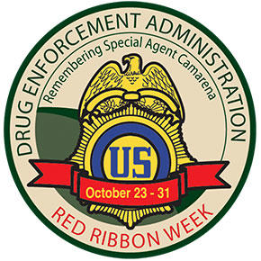 DEA Red Ribbon Week patch