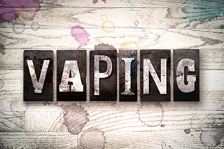 vaping text graphic